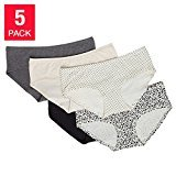 Carole Hochman Ladies' 5-pack Hipster Panty (Small, Assorted-2)