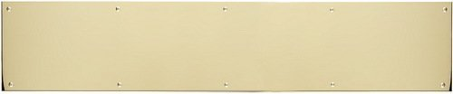 BRASS Accents A09-P0830-605ADH 8 in. x 30 in. Kick Plate Polished Brass Adhesive Mount