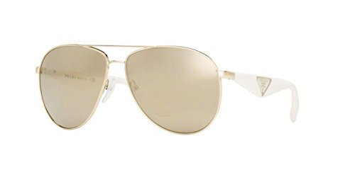Womens Triangle PR53QS Sunglasses, Gold, 60 Prada