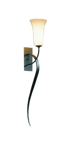 Hubbardton Forge 204527-20-G25 Transitional Styled 1-Light Sconce with Sand Glass Shades, Natural Iron Finish - Hubbardton Bathroom Sconce
