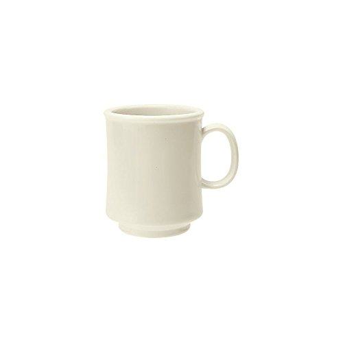 G.E.T. TM-1308-DI Diamond Ivory 8 Oz Stacking Mug - 24 / CS - 8 Ounce Stacking Mug