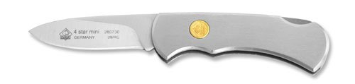 Puma 280730 4-Star Mini Stainless Folding Knife, Plain Silver