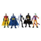 DC Comics Batman Exclusive 3.75 Inch Action Figure 5-Pack Gotham City All-Stars [Batman, Joker, Robin, Batman (black) & Two-Face]