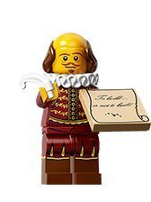 William Shakespeare #8 The LEGO MOVIE minifigure series set 71004SEALED RETAIL PACKAGING)