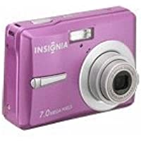 insignia NS-DSC7P09 7MP Digital Camera (Pink) At A Glance Review Image