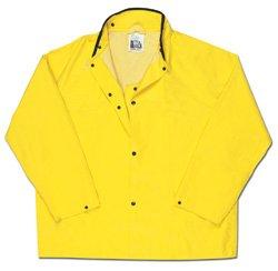 Concord Jacket - River City (MCR Safety Garments) 800JNX3 - Concord Rain Jacket - 3X-Large, Yellow, Neoprene/Nylon, Snaps Closure