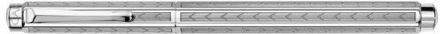 Caran D' Ache Chevron Ecridor Silver Plated/Rhodium Coat Fountain Pen Nib M, Large Engraving Space (0958.287)