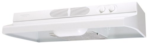 Air King AV1213 Advantage Convertible Under Cabinet Range Hood with 2-Speed Blower and 180-CFM, 7.0-Sones, 21-Inch Wide, White - Hood Air King Vent
