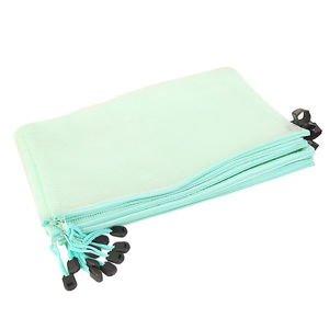 12Pcs A4 Zipper Bags Zip File Storage Document Folder Protective Sleeve Blue