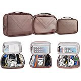 BUBM 3pcs/set Waterproof Universal Electronics Accessories Travel Organizer Carrying Case Camera Lens Charger Cable Organiser Triple Set(Large, Medium, Small)