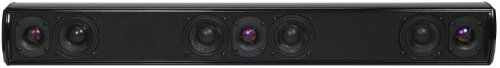 Slimline Flat Panel (Pinnacle Speakers QP 7 7-Driver Slim Line Speaker Bar Ideal for Flat Panel TVs 32-Inch and Up (Piano Lacquer Black) (Discontinued by Manufacturer))
