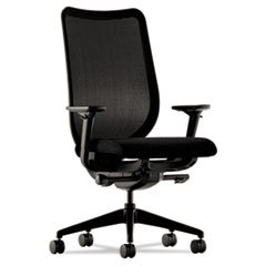 - Nucleus Series Work Chair, Black ilira-stretch M4 Back, Black Seat - Nucleus Series