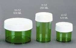 Nalgene Straight-Sided Polycarbonate Jar, Green, 16 oz ()