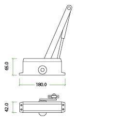 Cerrador de puerta tama/ño 3 uso comercial o dom/éstico velocidad BS EN 1154 IRONZONE puertas de incendios regulables 10 a/ños de garant/ía
