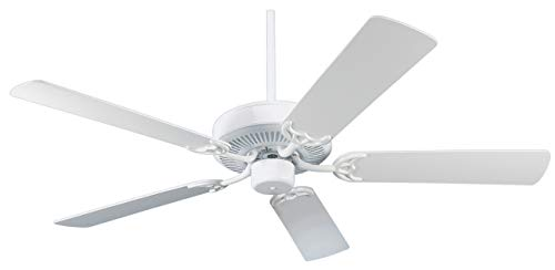 NICOR Lighting 52-Inch Masterbuilder White Ceiling Fan (ES52MASWH)