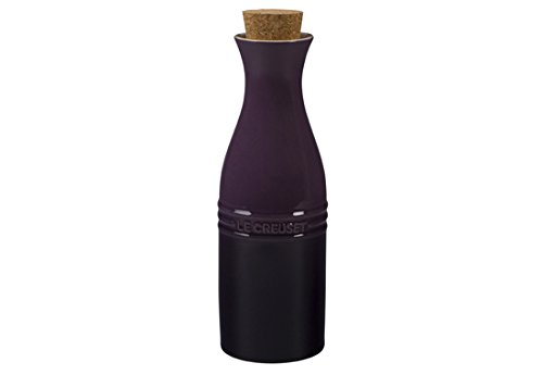 Le Creuset of America Stoneware Wine Carafe with Cork, 750ml, Cassis
