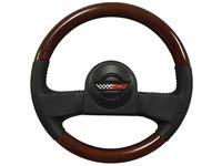 1986-1989 C4 Corvette Leather/Mahogany Wood Steering Wheel Kit   9768988