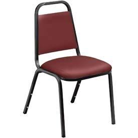 Economy Chair Stack - OKSLO Economy vinyl stack chair w/steel frame, burgundy