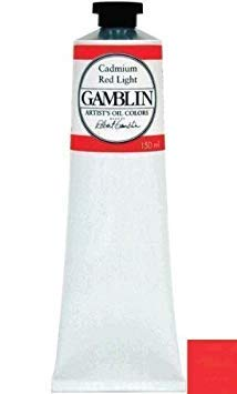 - Gamblin Oil Color Cadmium Red Light 150 ml tube