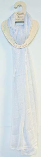 DM Merchandising Woven Metallic Scarf - White W/silver(pack Of 24) from DM Merchandising