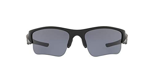 Oakley Men's OO9009 Flak Jacket XLJ Rectangular Sunglasses, Matte Black/Grey, 63 mm (Jacket Xlj Oakley Flak)