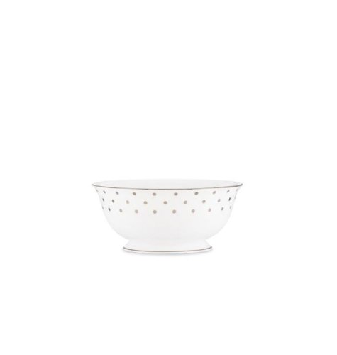 Kate Spade New York Women's Larabee Road Platinum Serving Bowl Large White ()