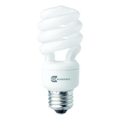 Eco Spiral - Ecosmart 60W Equivalent 2700K Spiral CFL Light Bulb, Soft White (12-Pack)