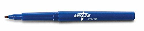 Medline DYNJSM02 Regular Tip Surgical Skin Markers with Ruler and Labels, Sterile (Pack of 50)