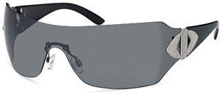 Damen Sonnenbrille Art. 9008-3, schwarz / schwarz, mit durchgängigem Panoramglas