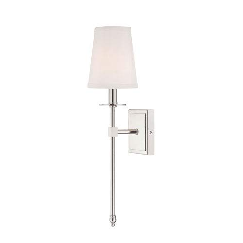 - 251 First Linden Polished Nickel Five-Inch One-Light Wall Sconce