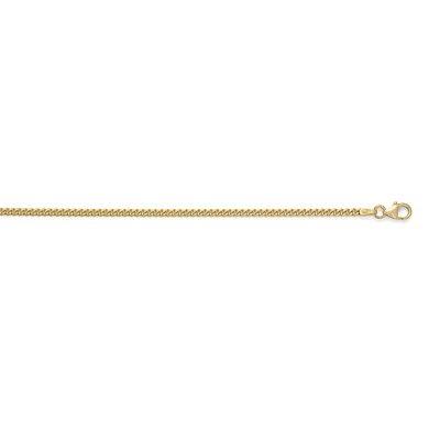 Or jaune 14carats massif 2,4mm-Bracelet Femme-Gourmette 18cm