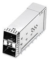 I/O Connectors ZSFP+ STACK 2X1 RCPT EMI SPRING W/4 LP -