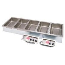 APW Wyott Top Mount Insulated Drop In Hot Food Well - 5 Well with Drain, 71.747 x 22.5 inch Cut Out -- 1 each. by APW Wyott