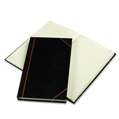 Texhide Series Account Book, Black/Burgundy, 300 Green Pages, 14 1/4 x