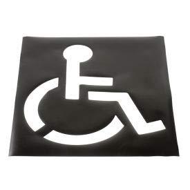Global Industrial Parking Lot Stencil, Handicapped Symbol, 37