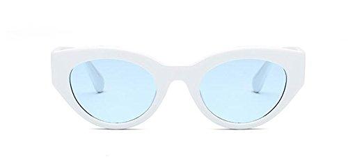 en vintage polarisées de cercle du lunettes inspirées Film style retro métallique Lennon rond soleil Bleu qzfUE0p
