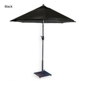 MJJ Sales, 7.5u0027 Aluminum Market Umbrella   Black