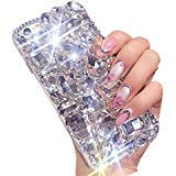 Aearl Apple iPhone XS Max Bling Diamond Case,iPhone XS Max Luxury Sparkle Crystal Rhinestone Shiny Glitter Full Clear Stones Back Cover With Screen Protector For iPhone XS Max 6.1 inch ()