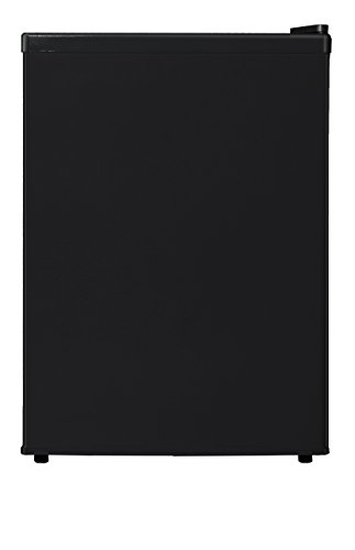 Midea WHS-87LB1 Compact Reversible Single Door Refrigerator and Freezer, 2.4 Cubic Feet, Black