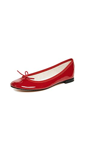 Shoe Red Womens Gloss (Repetto Women's Cendrillon, Red Patent, 39 (US 8.5) M)