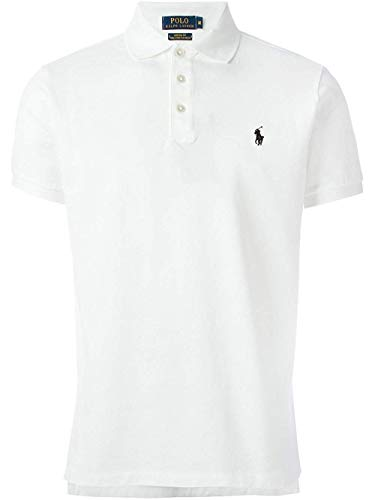 Polo Ralph Lauren Mens Classic-Fit Mesh Short Sleeve Polo (XX-Large, BSR White)