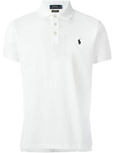 Polo Ralph Lauren Mens Classic-Fit Mesh Short Sleeve Polo (XX-Large, BSR White) (Mens White Ralph Lauren Shirt Short Sleeve)