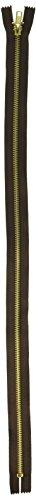 Coats Thread & Zippers F2414-56B Fashion Metal Brass Closed Bottom Zipper, 14