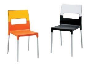 Idea Sillas Bar 4, sillas de Polipropileno Reforzado con Respaldo de ...