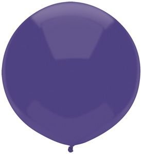 17'' Regal Purple Outdoor Latex Balloons - Pack of 5 by Single Source Party Supplies