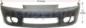 ECLIPSE 97-99 FRONT BUMPER COVER, Primed, with Fog Lamp Holes and Side Marker... (98 Eclipse 99 97 Stock)