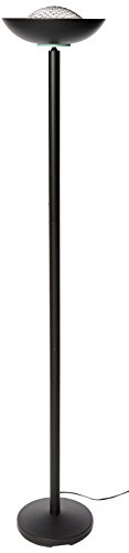 Lite Source LS-80910BLK Basic II 72-Inch 180-Watt Halogen Torchiere Floor Lamp, Black