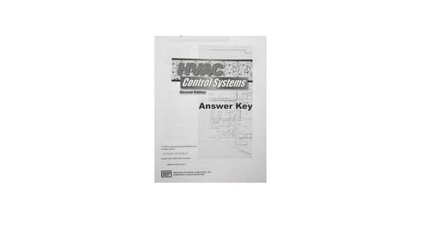 Hvac Control Systems Workbook Answer Key Atp Staff 9780826907592 Amazon Com Books