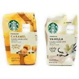 Starbucks Flavored Coffee Caramel and Vanilla 11 Oz. (Set of 2) (Best Caramel Coffee At Starbucks)