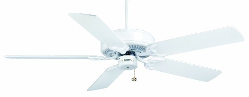 Casablanca 84U11D Four Seasons III 52-Inch Ceiling Fan, Snow White Finish with Snow White/Bleached Oak Blades
